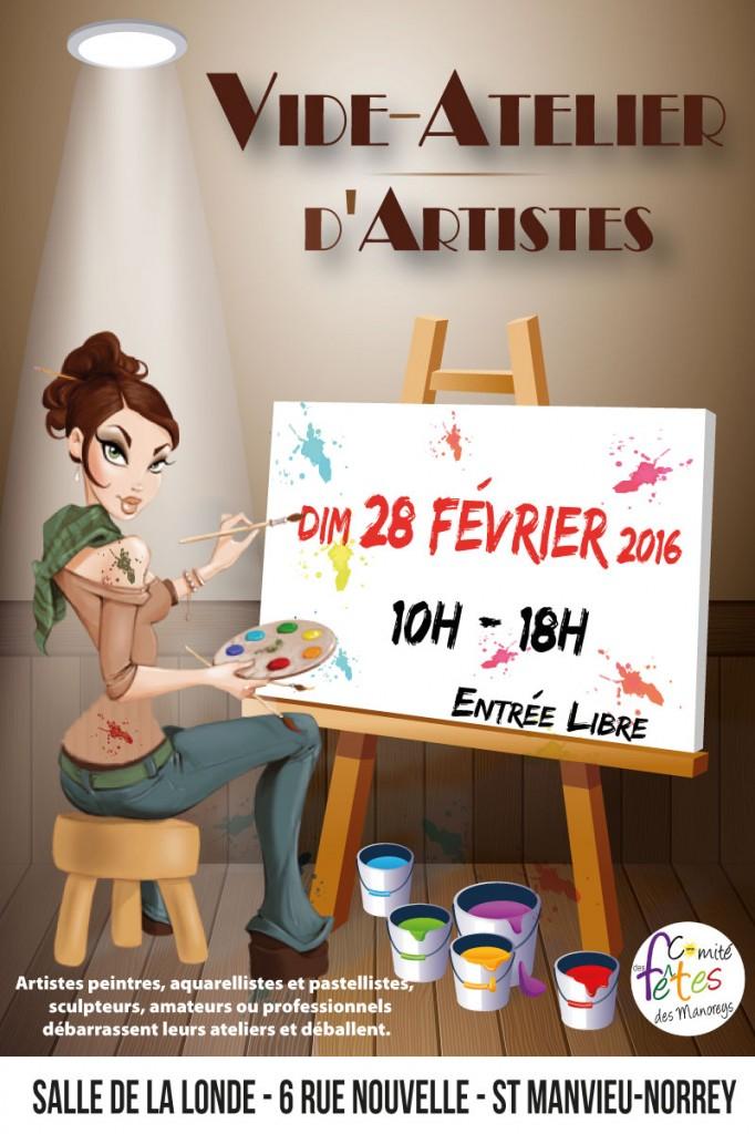 affiche vide-atelier d'artistes
